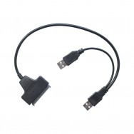 Адаптер-переходник USB 2.0 - SATA 7+15 pin для HDD/SSD