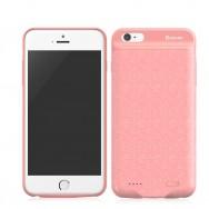 Чехол-аккумулятор Baseus Plaid Backpack Power Bank 2500 мАч для iPhone 6/6S, цвет Розовый (ACAPIPH6-BJ04)