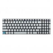 Клавиатура для Asus N550LF серебристая с подсветкой