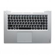 Топ-панель с клавиатурой для Lenovo IdeaPad U430p серебристая