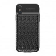 Чехол-аккумулятор Baseus Plaid Backpack Power Bank (ACAPIPHX-BJ01) для Apple iPhone X (черный)