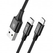 Кабель Baseus Rapid Series 2-in-1 USB - microUSB/Lightning (CAML) 1.2 м