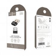 Адаптер, переходник USB - Type-C UA6 HOCO - черный