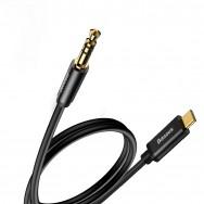 Кабель Baseus USB Type-C - mini jack 3.5 mm (M01) 1.2 м (черный)
