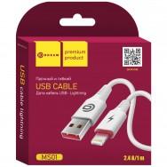 Кабель USB - Lightning (White 1m 2.4A) Dream MS01