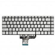 Клавиатура для HP Envy 13-ah0000 серебристая с подсветкой