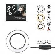 """Подсветка для селфи 16 см (6"""") LED LiveStream - черная металлическая"""