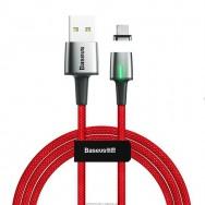 Кабель магнитный Baseus Zinc Magnetic Cable USB - Type-C (CATXC-A09) 3A 1 м - красный