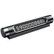 Автовизитка Baseus Metal Temporary Parking Number Card (ACNUM-01) - черная