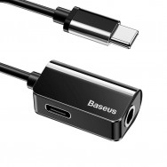 Переходник Baseus USB Type-C - USB Type-C/jack 3.5mm (L40) 0.12м - Черный