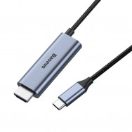 Кабель Baseus C-Video Functional Notebook Type-C to HDMI+PD (CATCY-D0G) 1.8m - space gray