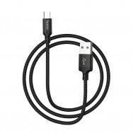 Кабель USB - microUSB (black 1m) HOCO X14