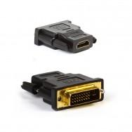 Адаптер - переходник DVI-D (M) - HDMI (F) A122 Smartbuy черный