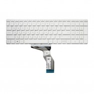 Клавиатура для HP 15-bs000 белая с подсветкой