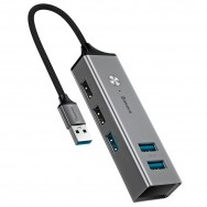 USB-концентратор Baseus Cube (CAHUB-C) серый