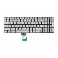 Клавиатура для Asus Zenbook Pro UX501VW серебристая с подсветкой
