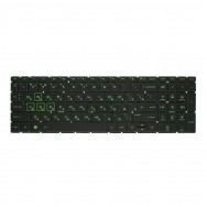 Клавиатура для HP Pavilion Gaming 15-cx0000 с подсветкой (Green)