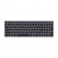 Клавиатура для LENOVO IDEAPAD S510p серая рамка (с подсветкой)