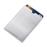 Чехол защитный для карты с RFID блокировкой, серебристый