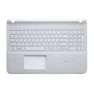 Топ-панель с клавиатурой для Sony Vaio SVF1521 белая
