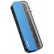 USB-концентратор Baseus Transparent Series Type-C (CAHUB-TD03) - синий