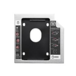 Переходник для дополнительного HDD (optibay) кредл в отсек CD/DVD SATA 12.7 mm