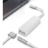 Переходник Magsafe 1/2 - USB Type-C - белый