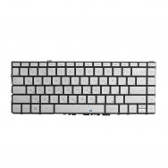 Клавиатура для HP Spectre 13-w000 x360 серебристая с подсветкой