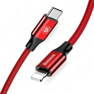 Кабель BASEUS USB Type-C  - Lightning 18W красный