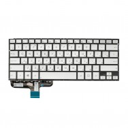 Клавиатура для Asus Zenbook UX301LA  серебристая с подсветкой
