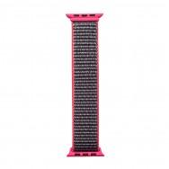 Ремешок для Apple Watch 42-44 мм тканевый - серый с розовым
