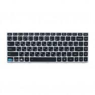 Клавиатура для LENOVO IDEAPAD G40-70  с подсветкой (серая рамка)