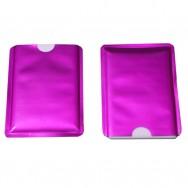 Чехол защитный для карты с RFID блокировкой, розовый