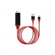 Адаптер Lightning-HDMI для iPhone и iPad (1080p 1.8m) - красный