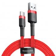 Кабель Baseus Cafule USB - USB Type-C 1 м (CATKLF) - красный