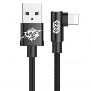 Кабель Lightning - USB 90 градусов, длина 50 см черный, BASEUS