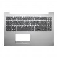 Топ-панель с клавиатурой для Lenovo IdeaPad 320-15 серебристая