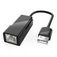 Адаптер, переходник с USB 3.0 на RJ-45 - черный