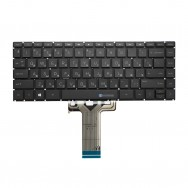 Клавиатура для HP 14-bp000 черная с подсветкой
