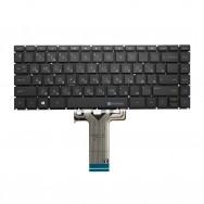 Клавиатура для HP 14-bw000 черная с подсветкой