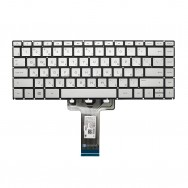 Клавиатура для HP 14-bp000 серебристая с подсветкой