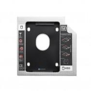 Переходник для дополнительного HDD (optibay) в отсек CD/DVD SATA 9.5 mm