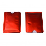 Чехол защитный для карты с RFID блокировкой, красный