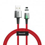 Кабель магнитный Baseus Zinc Magnetic Cable USB - Lightning (CALXC-A09) 2.4A 1 м - красный