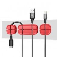 Органайзер для проводов (держатель) Baseus Красный