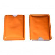 Чехол защитный для карты с RFID блокировкой, оранжевый