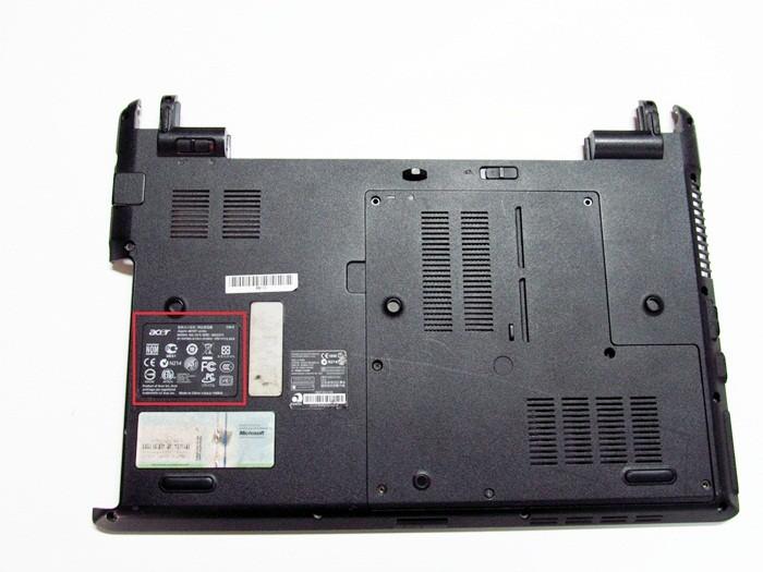 как узнать модель ноутбука Acer