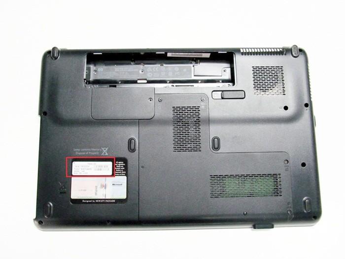 как узнать модель ноутбука Compaq
